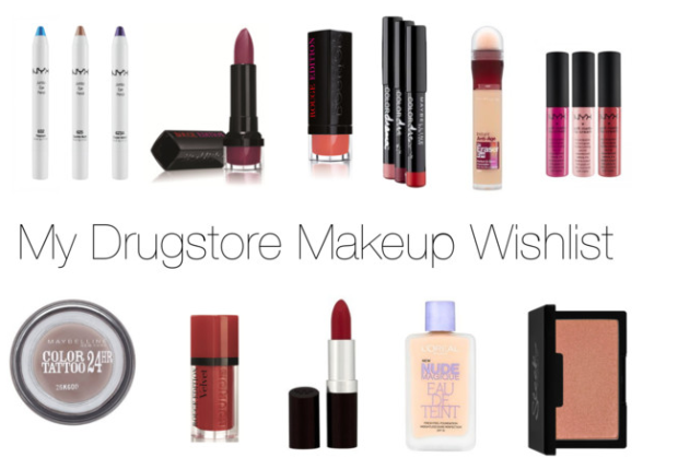 My Drugstore Makeup Wishlist