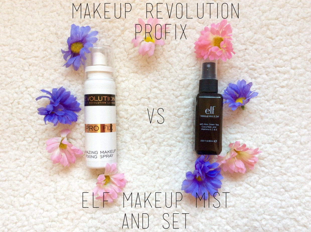 Elf makeup mist and set